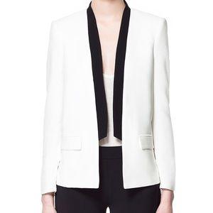 zara white tuxedo blazer